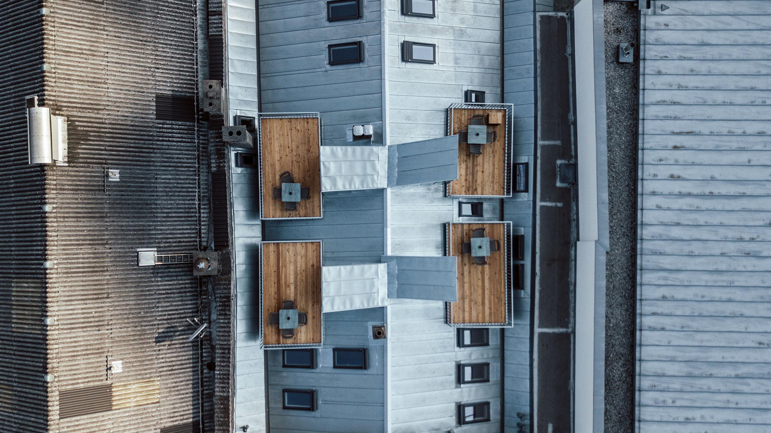 Außen Dachterrasse von oben 2