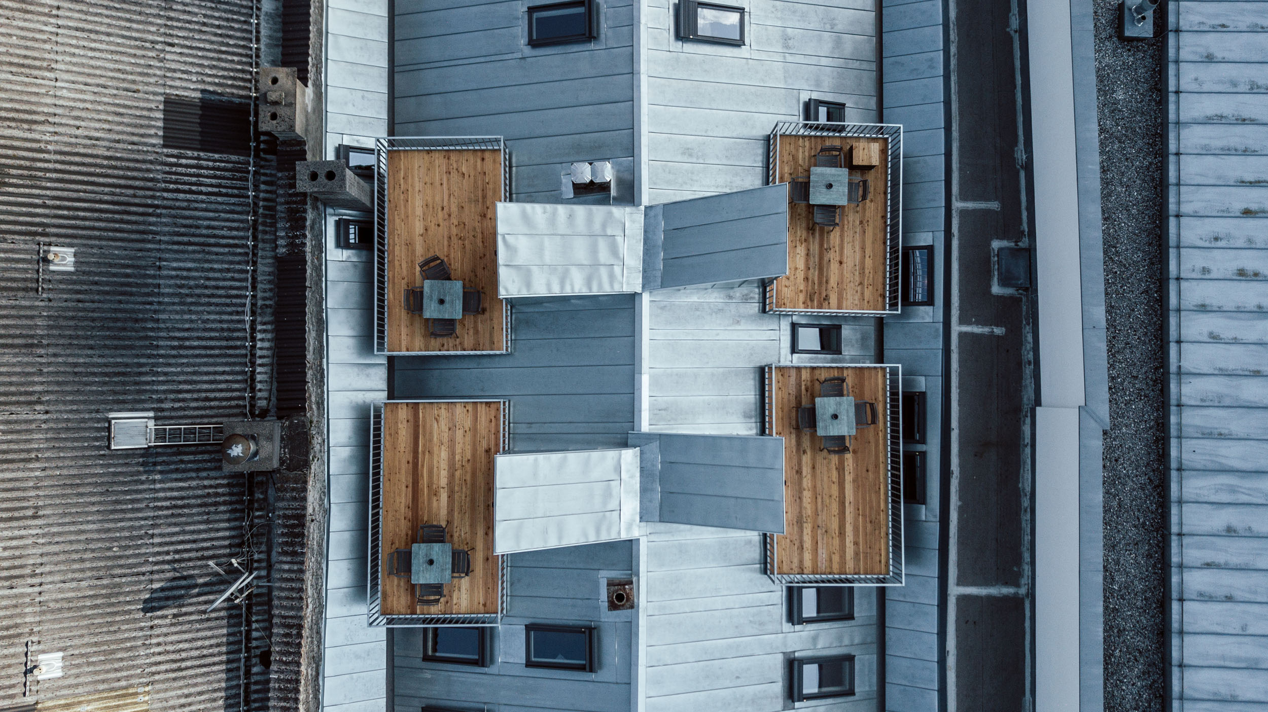 Außen Dachterrasse von oben